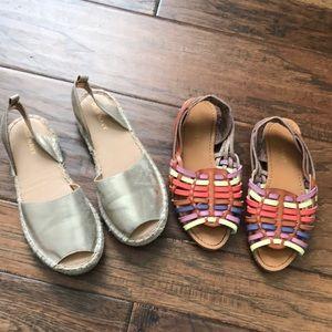 Old navy sandals girls sz 12
